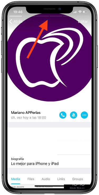perfil de un usuario de Telegram 2