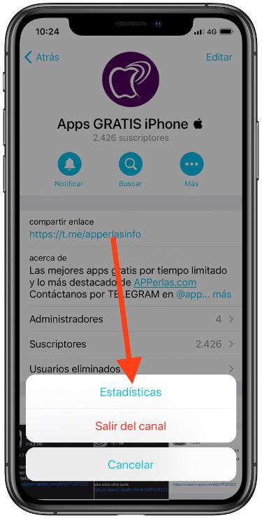 estadísticas de tu canal de Telegram 2