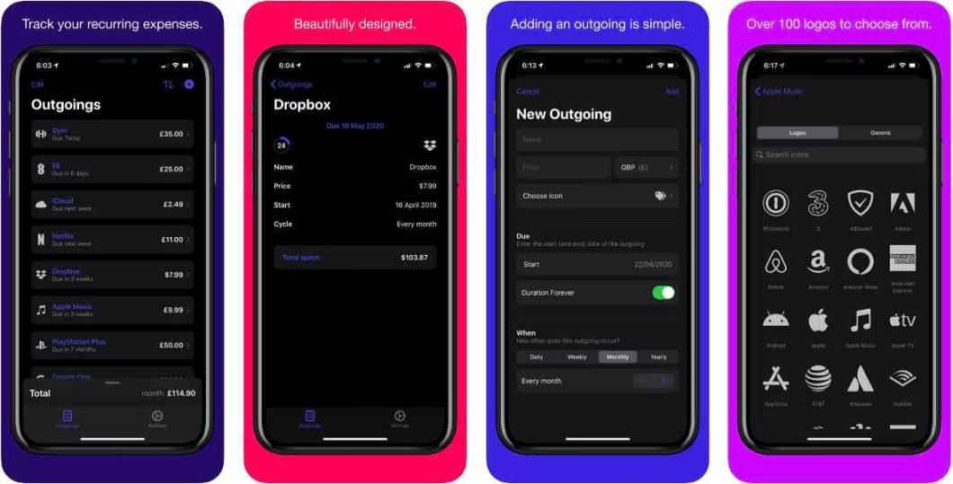 App de gastos para iPhone