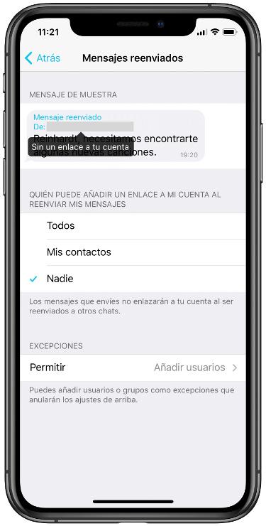 reenviar mensajes 2
