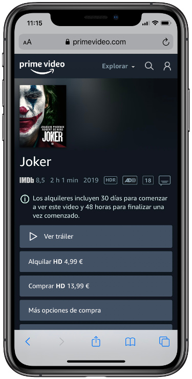 películas en Amazon Prime vídeo 2