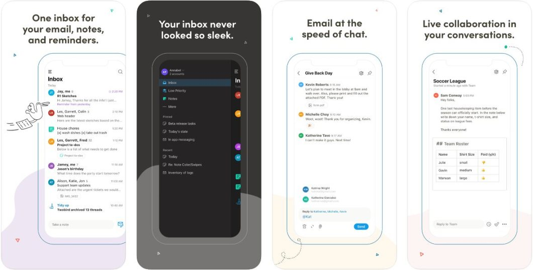 Completa app de Mail