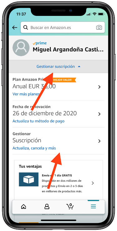 renovar Amazon Prime 2