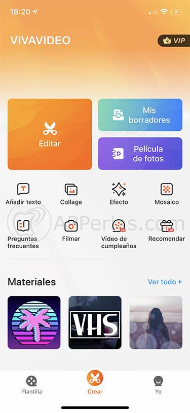 editor de vídeos para iPhone y ipad vivavideo 3