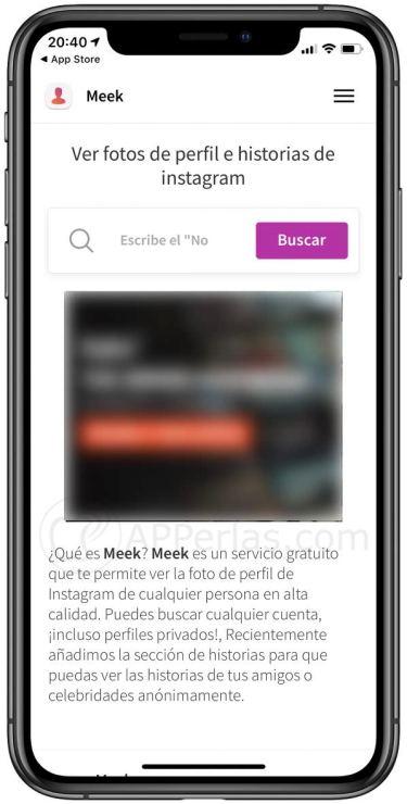 Interfaz de Meek