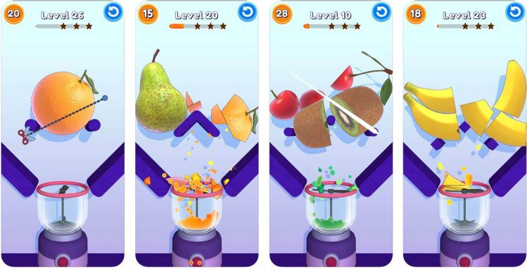 Juego sencillo de cortar frutas