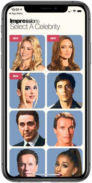 Caras de famosos para suplantar