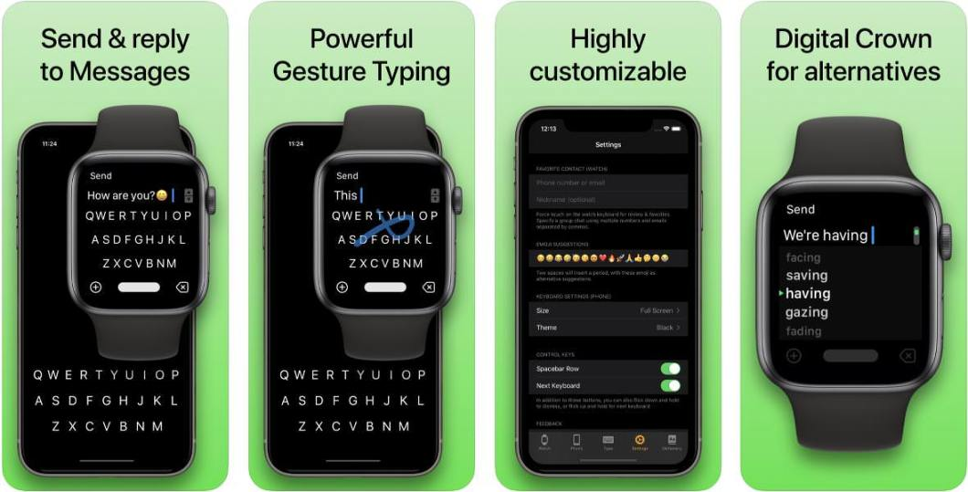 Teclado para Apple Watch y iPhone