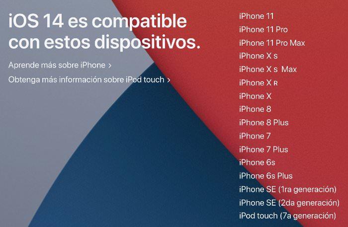 iPhone compatibles con iOS 14