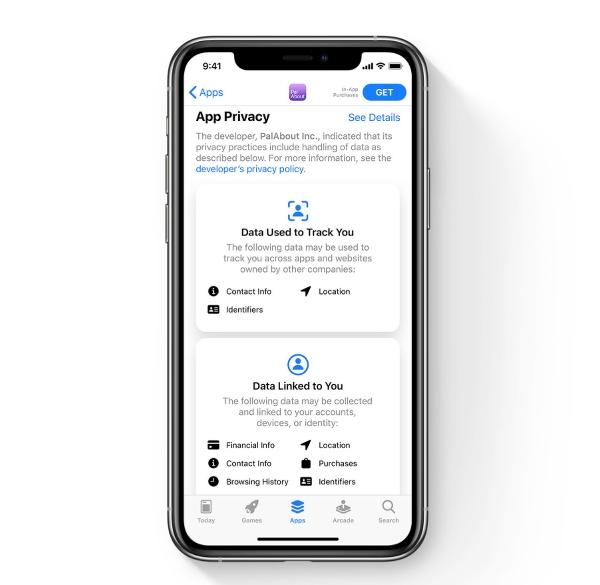 privacidad app store ios 14
