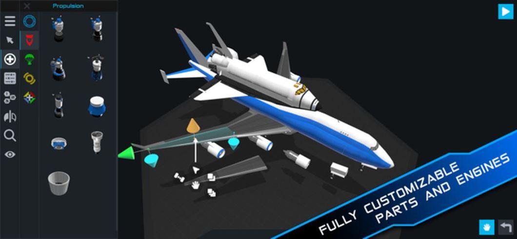 Simulador de cohetes espaciales