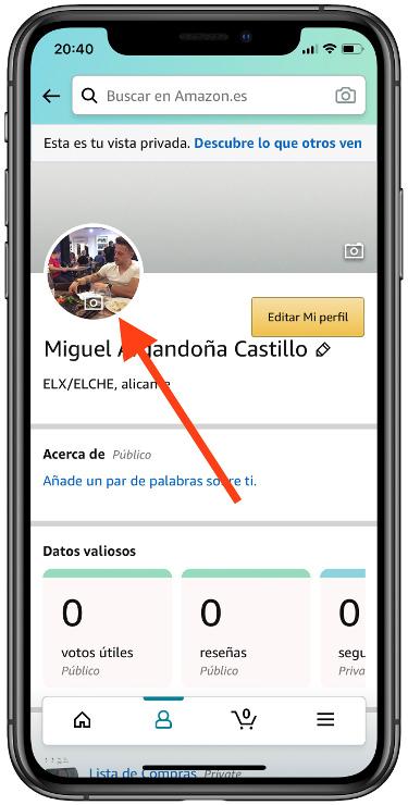 foto de perfil en Amazon 2