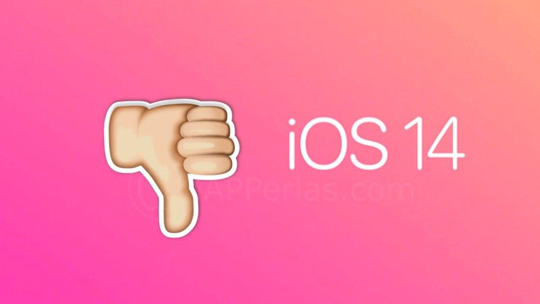 Cosas de iOS 14 y iPadOS 14 que no nos gustan