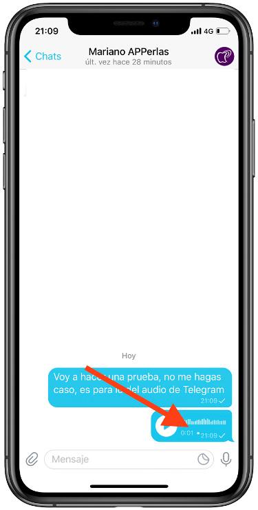 audio en Telegram 1
