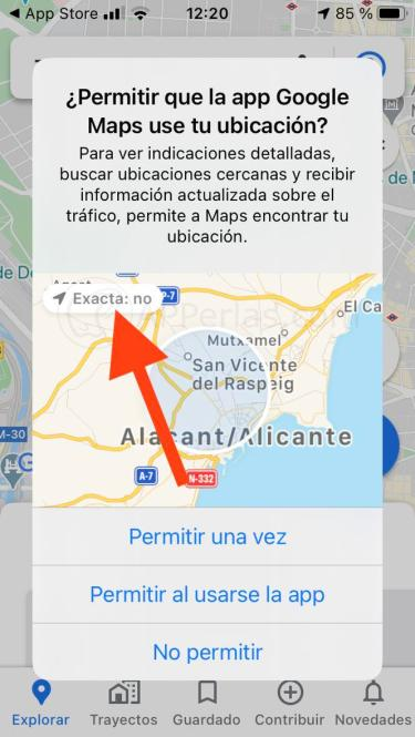 Ubicación aproximada en iOS 14