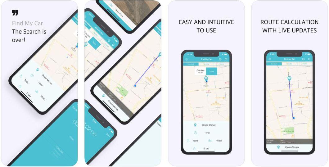 App para buscar donde has aparcado el coche