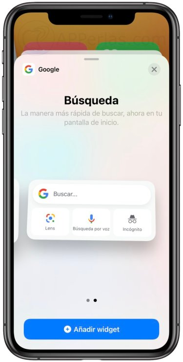 Widgets de la app Google