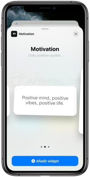 Widgets de motivación