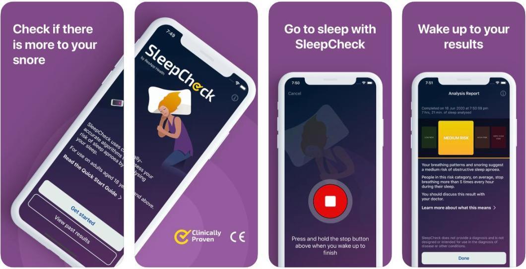 App de análisis del sueño para iPhone