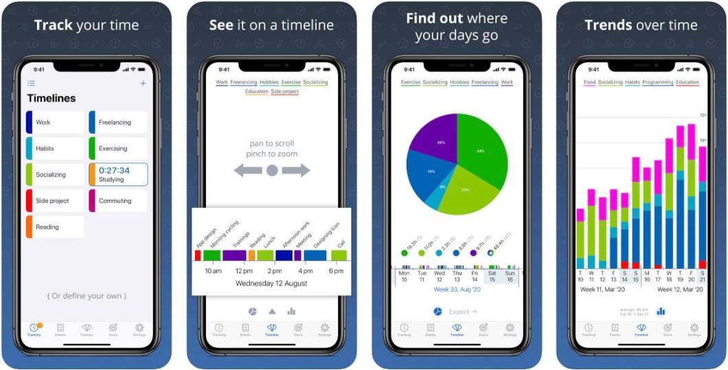 App de gestión del tiempo