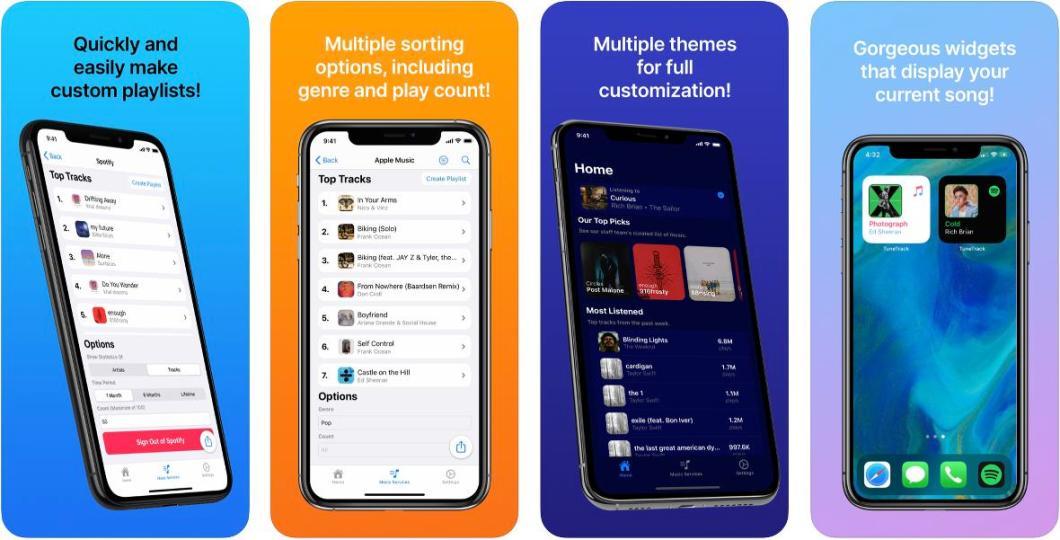 App TuneTrack para iOS