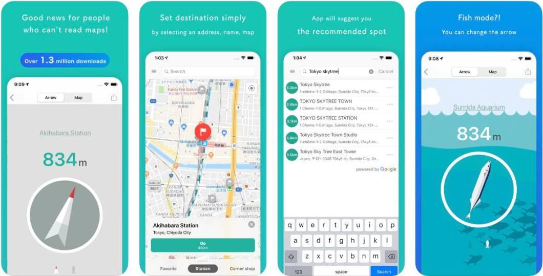 App de navegación GPS para iPhone