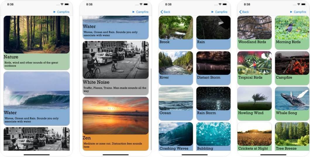 Sonidos relajantes para iOS