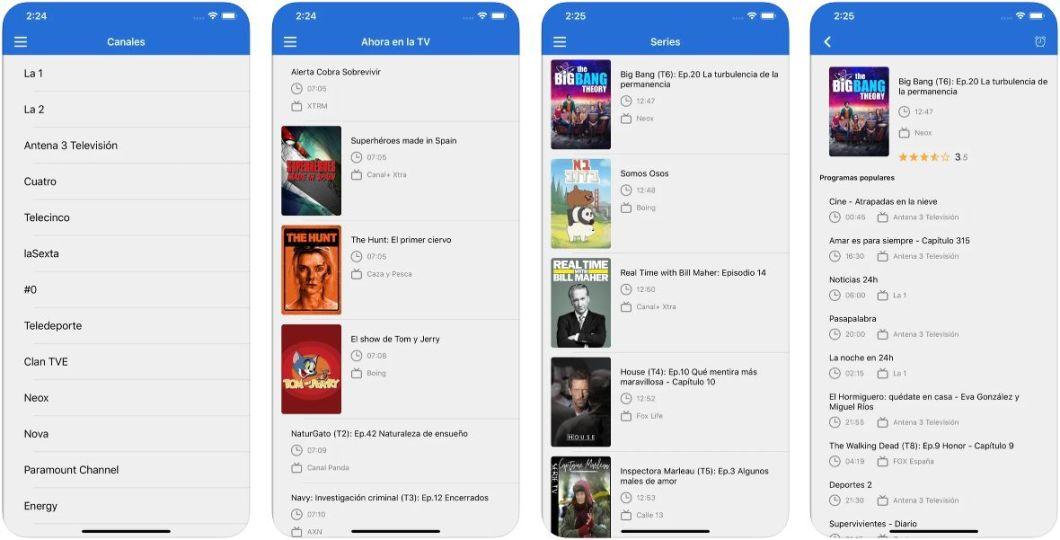 App con todos los canales de TV de España