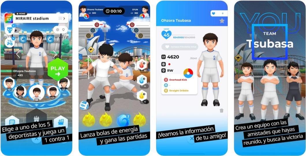Capturas del juego de Oliver y Benji en AR