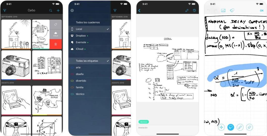 Cuaderno digital para iPhone y iPad