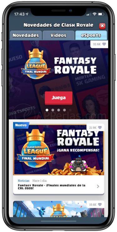 Crea tu equipo Fantasy Royale