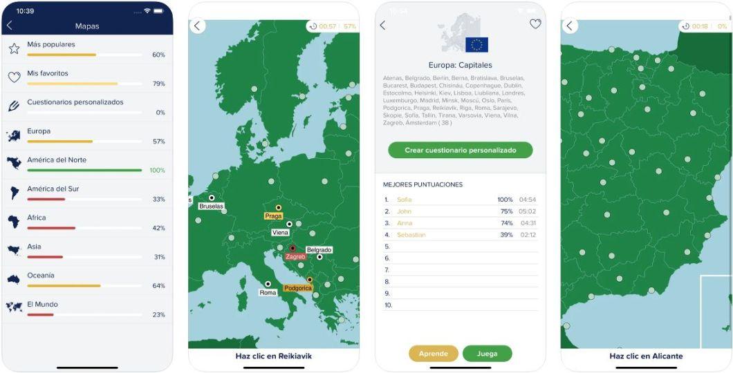 App de geografía para iOS