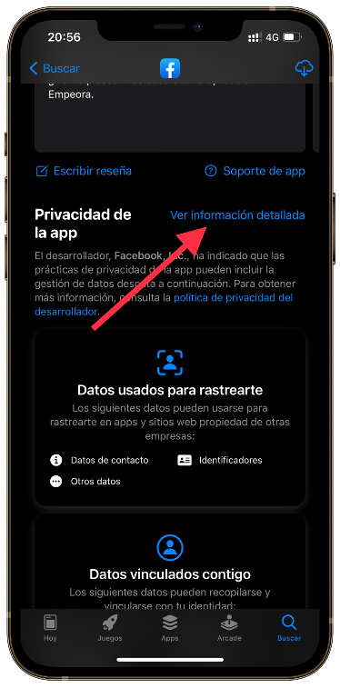 etiquetas de privacidad iOS 14