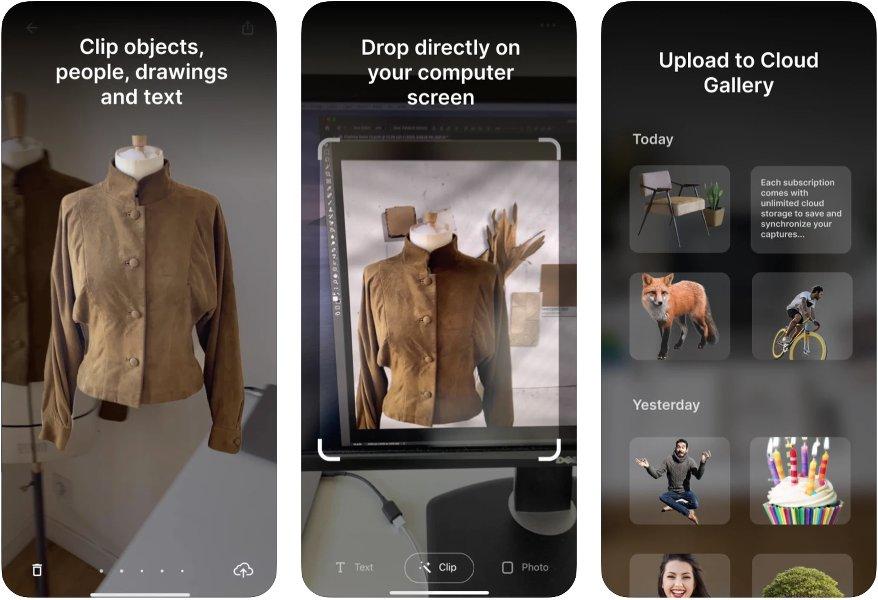 Capturas de ClipDrop para iOS