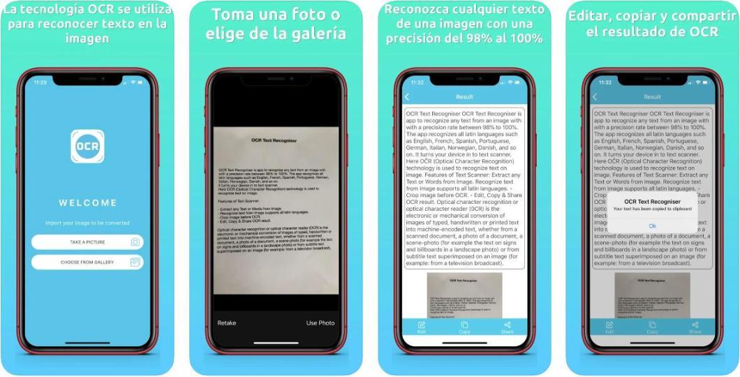 App para escanear texto