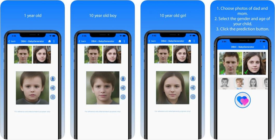 App que genera como será el Bebé de dos personas
