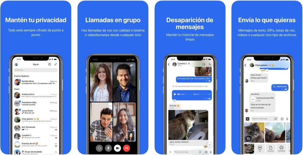 App Signal para iPhone