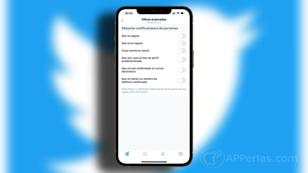 mejorar las notificaciones de Twitter