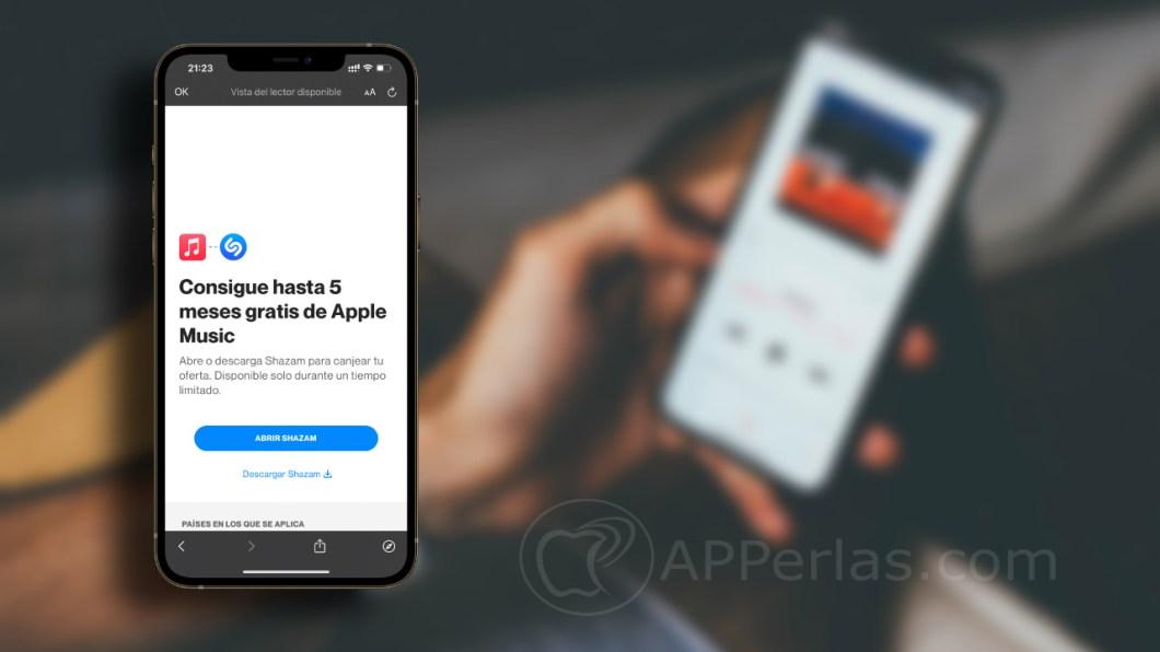 5 meses gratis de Apple Music