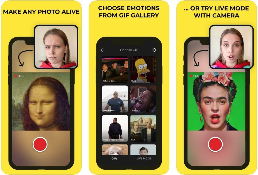 Capturas de la app Avatarify
