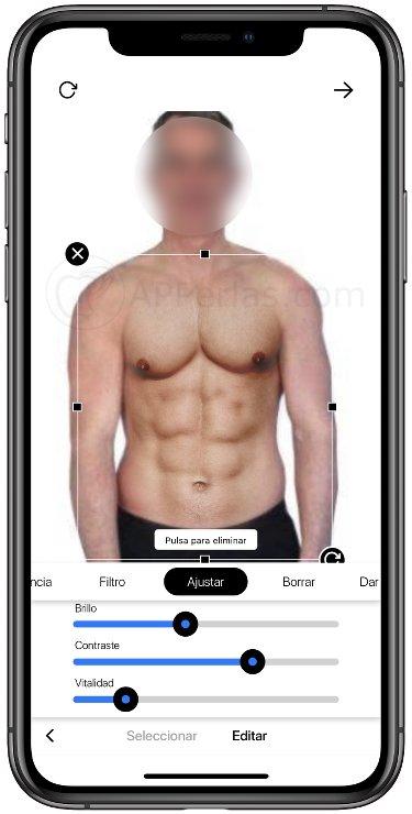 Así puedes poner abdominales en fotos