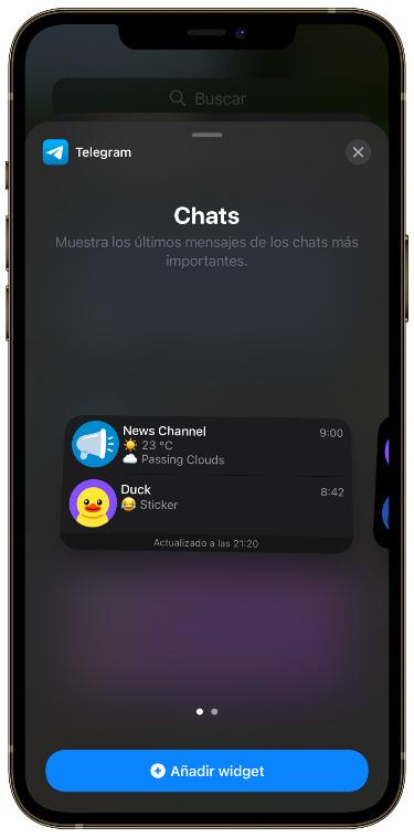 widget de Telegram 1