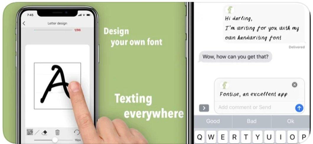 App para crear tu propia fuente de texto