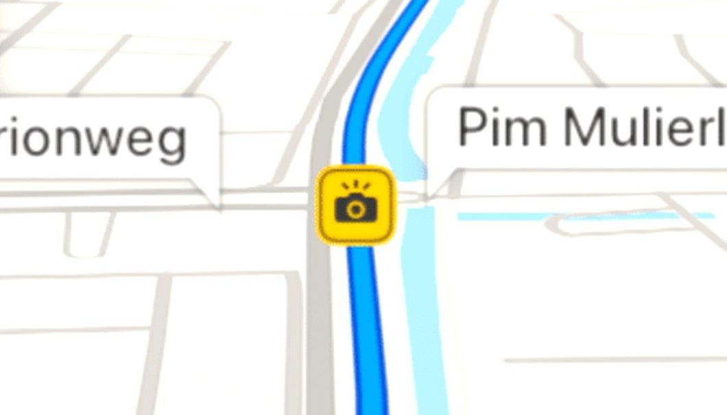 Icono de radar en Mapas de Apple