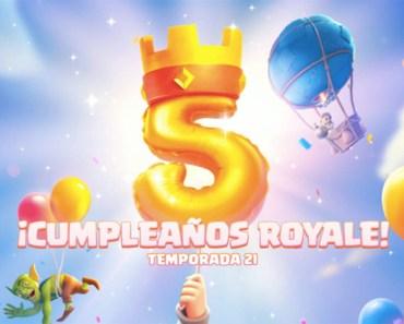 La temporada 21 de Clash Royale celebra el 5º cumpleaños del juego