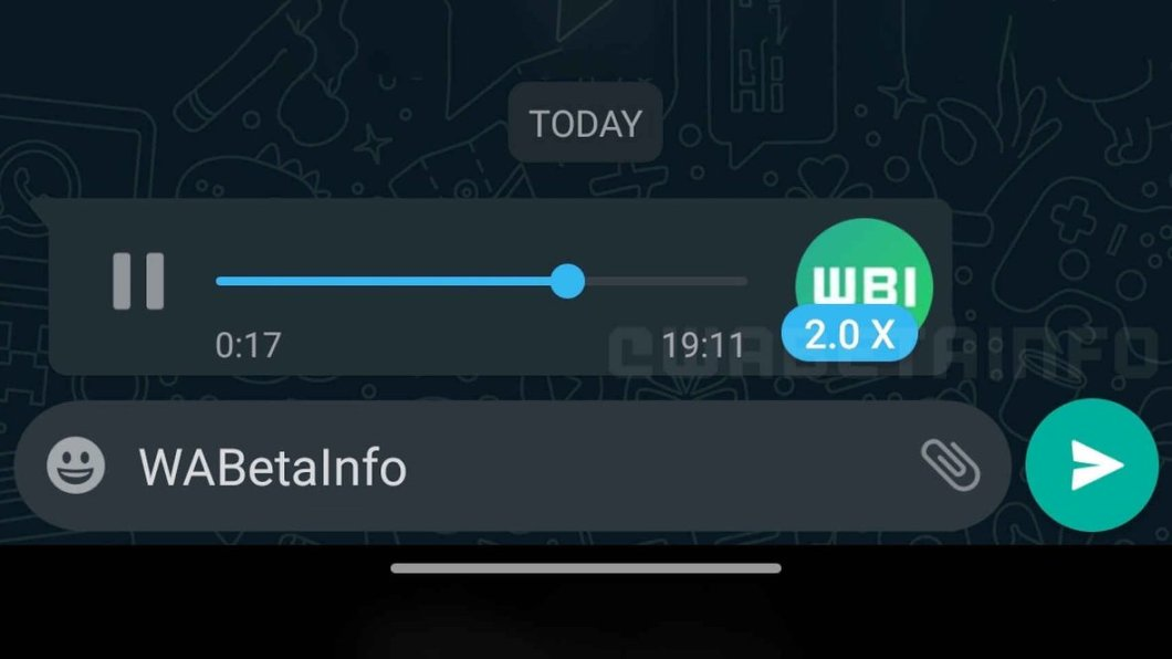 Velocidad para escuchar audios en WhatsApp