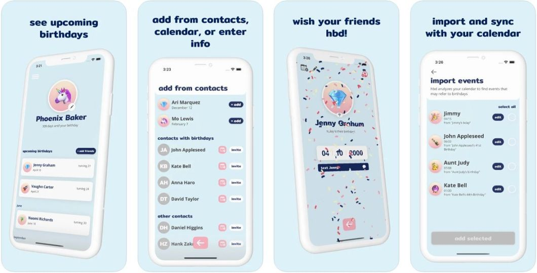 App de recordatorios de cumpleaños