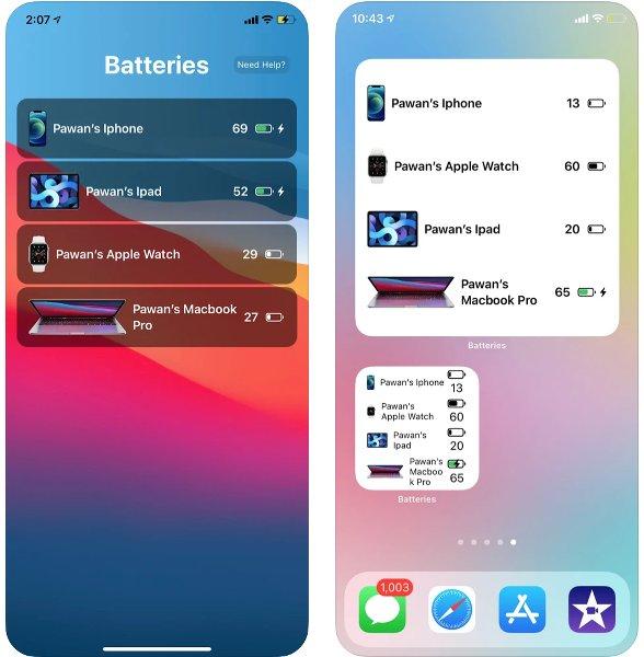 App Batteries para iOS