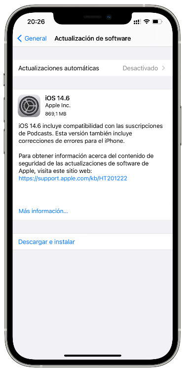 iOS 14.6 2