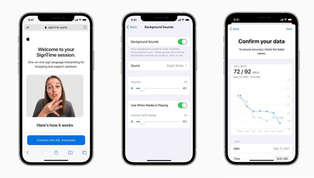 Nuevas funciones de accesibilidad de iOS 15